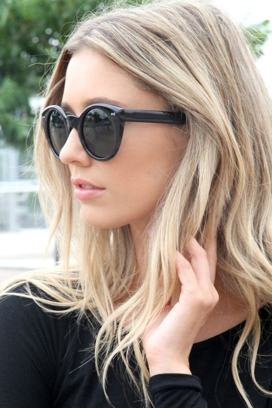 "cool/neutral blonde Ask your colorist to ""paint"" highlights rather than using foils for a natural, sunkissed look."