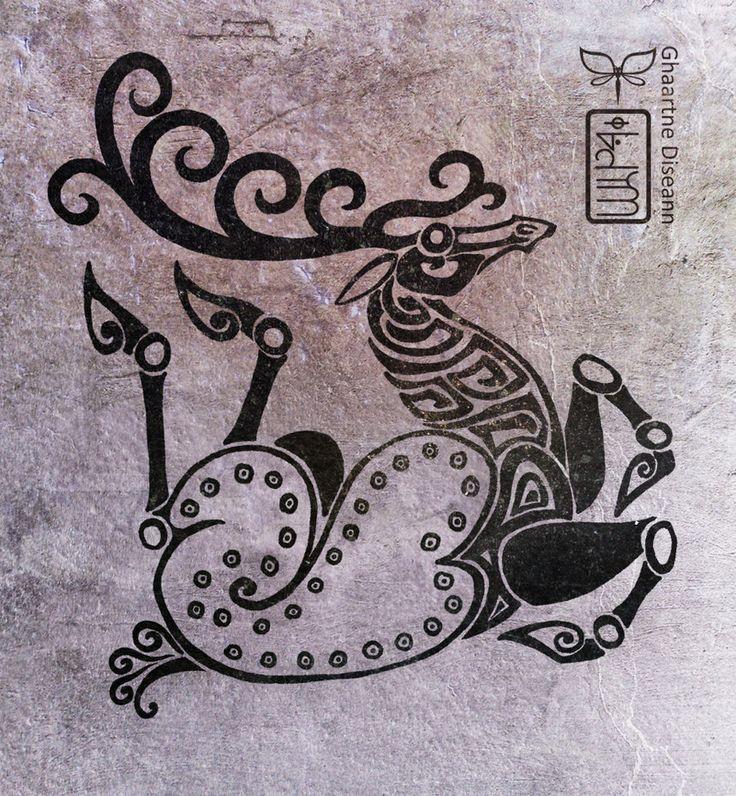 Twisted  Deer in Scythian tattoo style by diseann