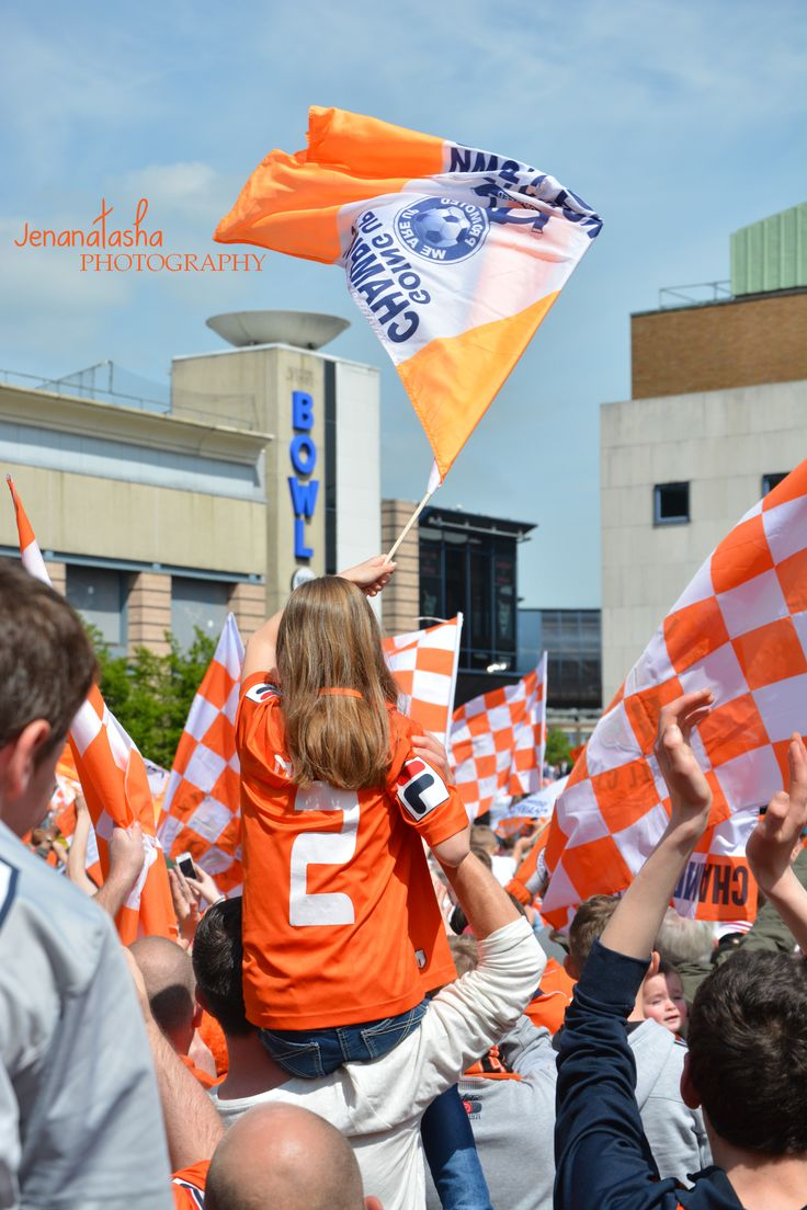 Luton Town Football Club fans celebrating automatic promotion from the football conference 2013-2014 www.Jennanatashaphotography.com