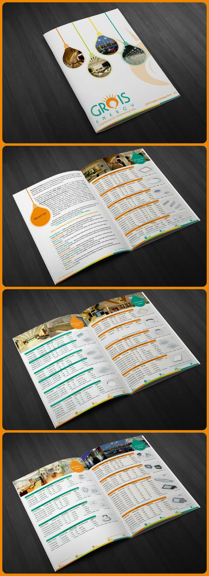 Brochure & Catalog Designing for GROIS ENERGY that stands for Green Renewable Optimized Infinite Source Of Energy.  GROIS ENERGY is a manufacturer of Solar Street Light, Solar Home Lighting Systems, and Solar Lanterns.etc.