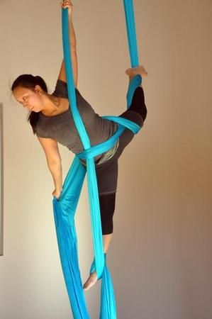 Aerial Yoga Fundamentals Clinic at Evolution Rock + Fitness in Concord, NH