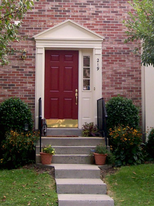 A variety of colorful front doors