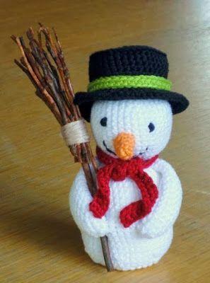 de Haakbaak: Cadeautje nummer 1: sneeuwpop gratis patroon, Nederlands, Kerstmis, decoratie, sneeuwman, haakpatroon