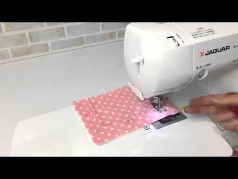 主婦のミシン、仕切りポーチの作り方 - YouTube