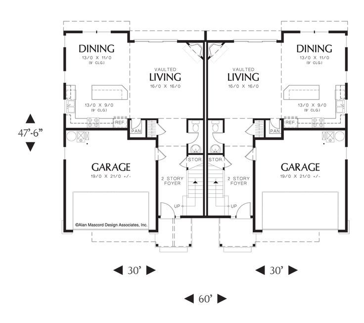 68 best duplex plans images on pinterest   small homes, small houses