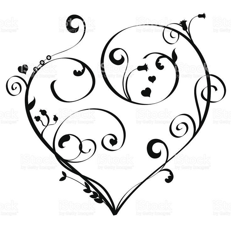 Art Nouveau Heart royalty-free stock vector art