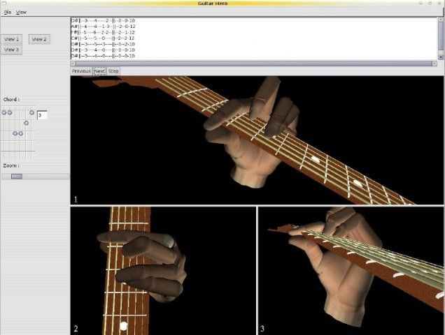 Visualization of guitar chords