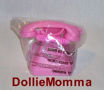american girl doll phones | New American Girl Doll Pink Play Phone Rings Bedroom Accessory McKenna ...