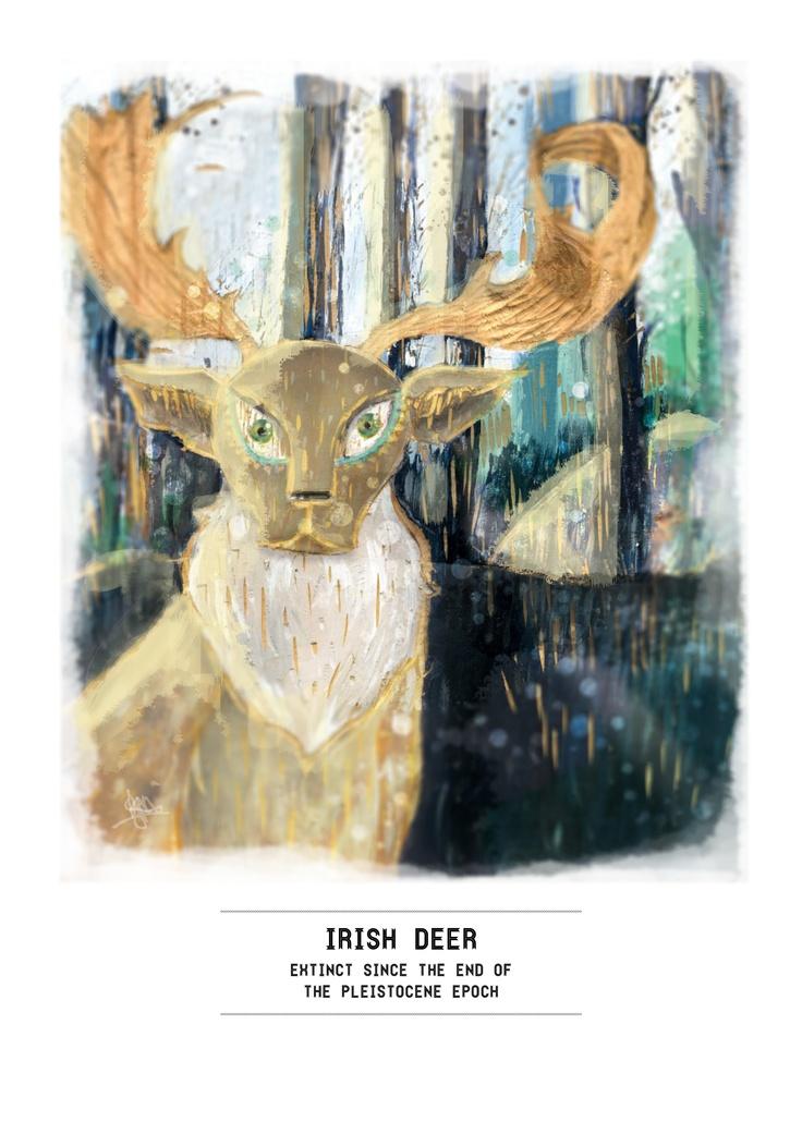 Extinct Series: Irish Deer