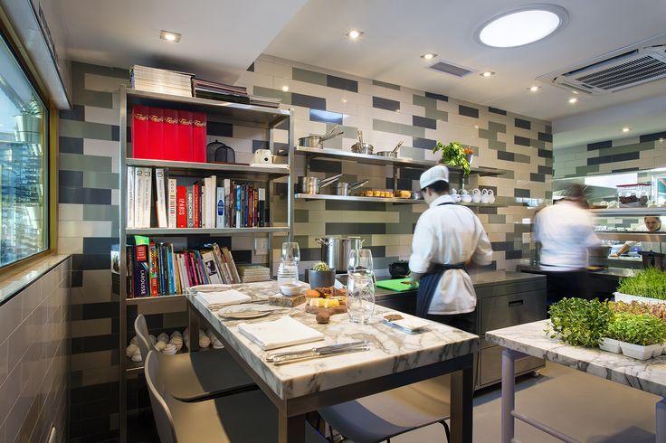 Boutique Hotel | Majeka House | Stellenbosch Makaron Restaurant | Metro tiles | Sage | White Marble | chefs table | Chefs Kitchen | Etienne Hanekom Interiors