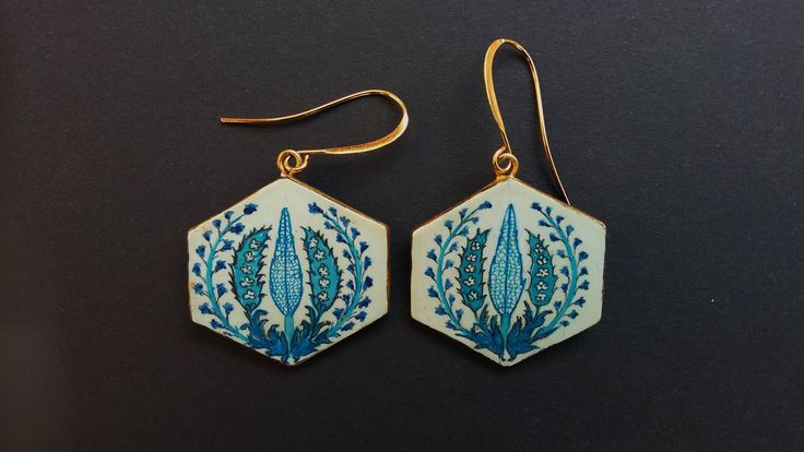 orecchini fatti a mano stile orientale di portalarte su Etsy