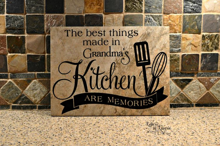 9x12 The best things made in Grandma's Kitchen are memories,Grandparent Gift,Gift for Grandma,Grandparents Day, Grandmother Birthday Gift by LettersbyLaurie on Etsy
