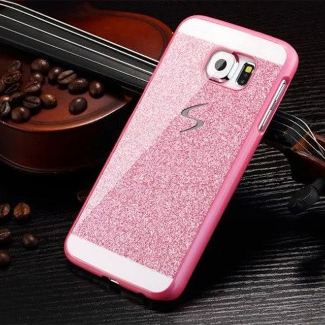 Hard Flash Plastic Cover for A3 A5 A7 2016 2015 Luxury Bling Capa Fundas Case For Samsung Galaxy S6 S6 Edge S6 Edge Plus S5 S4