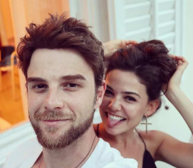 Nathaniel Buzolic and Danielle Campbell in July 2017...