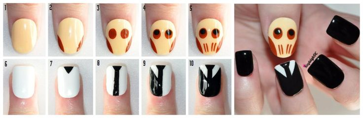 Tutorial: Doctor Who Nail Art - The Cute Silence by ~KayleighOC on deviantART