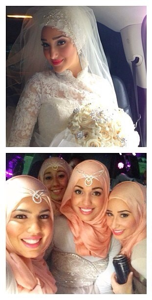 Muslim bride and bridesmaids. Yaz | her wedding day