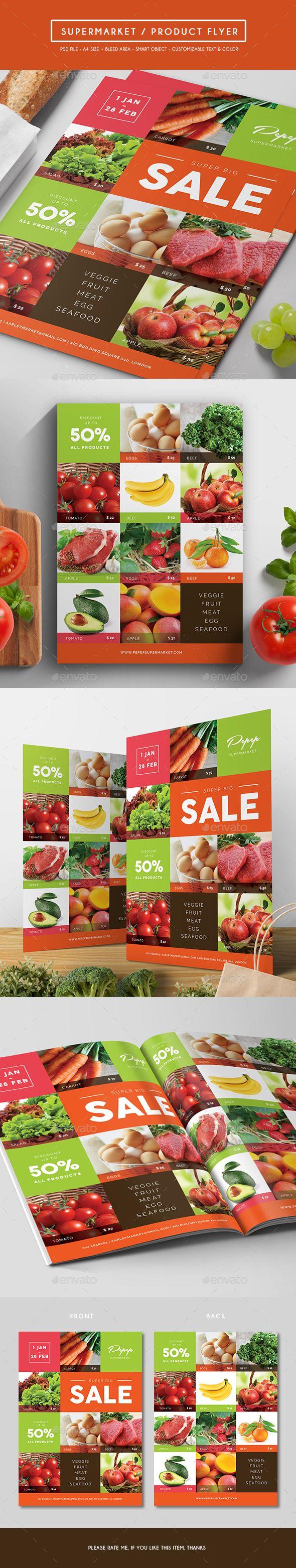 Supermarket / Product Flyer — Photoshop PSD #product promotion #sale • Avail...