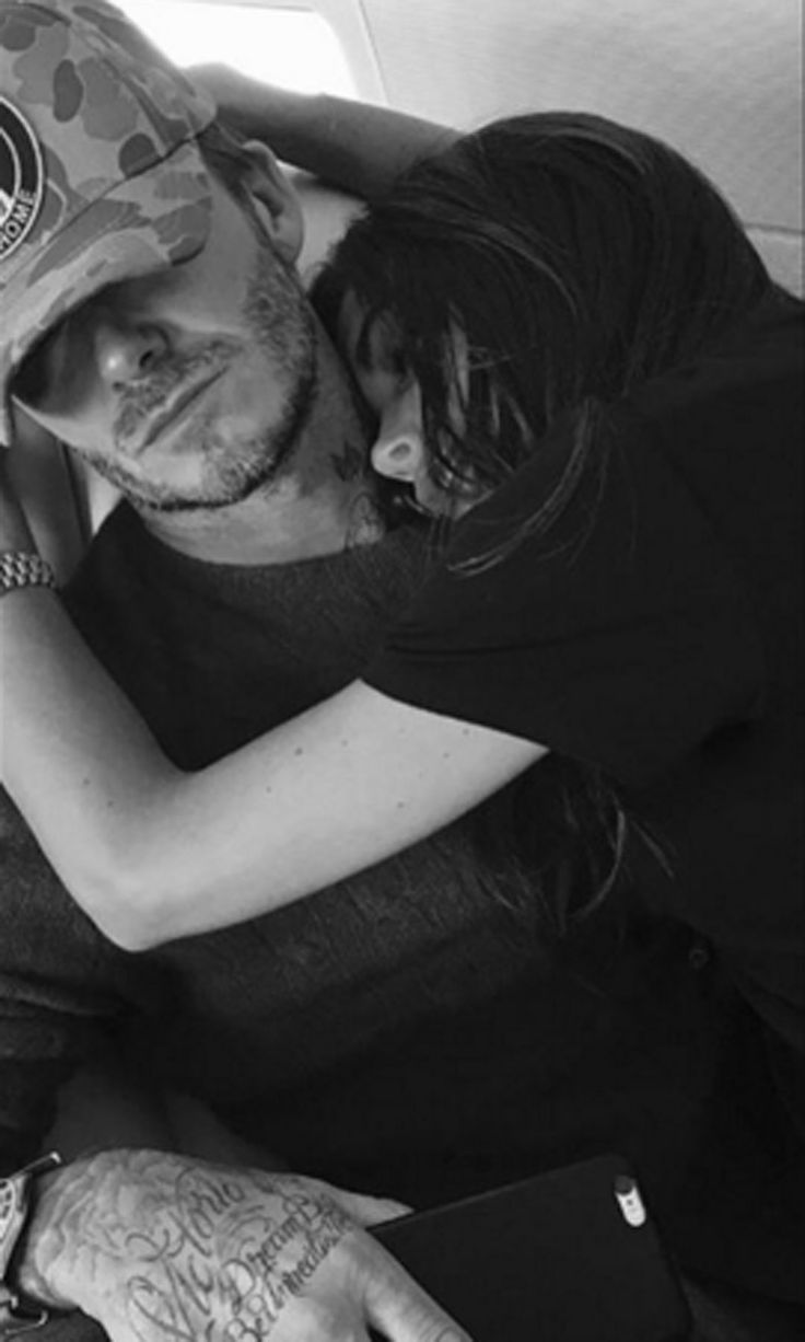 Victoria Beckham Celebrates Her Birthday by Sharing a Cuddly Snap of Her and David
