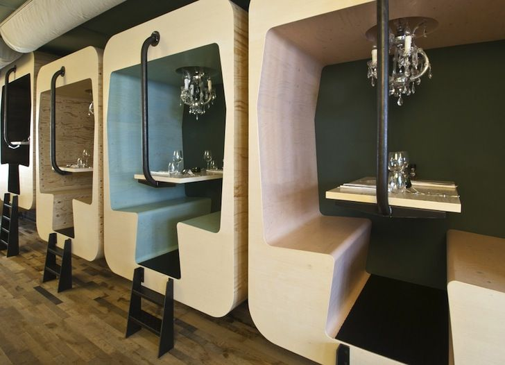 Industrial Chic Dining Pods Pop Up At Fabbrica Restaurant In The Netherlands