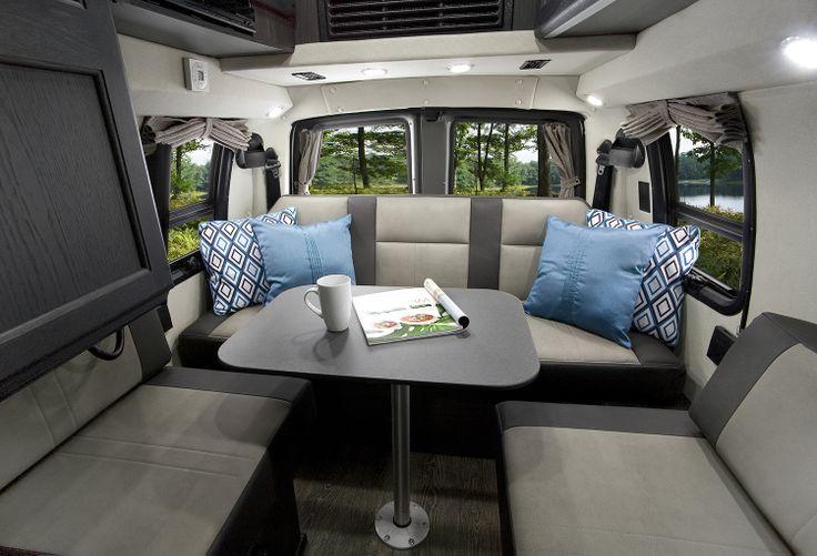 Rear sitting area in the Roadtrek Ranger RT with new Ebony ...