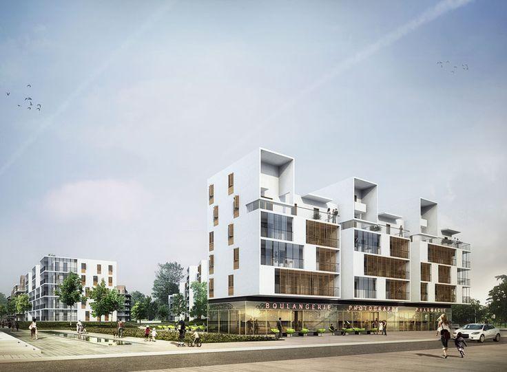 217 logements collectifs & proposition urbaine | Marjan Hessamfar & Joe Vérons architectes associés