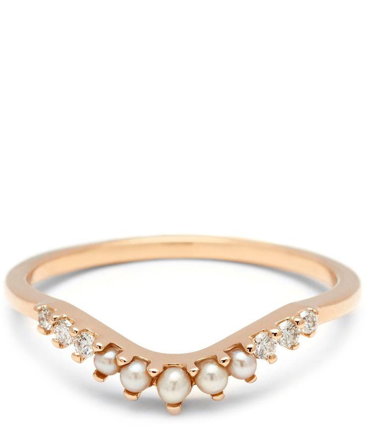 Anna Sheffield Rose Gold Tiara Curve Ring | Jewellery | Liberty.co.uk