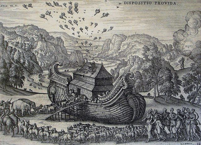 Phillip Medhurst Bible 49. Going into the Ark. Genesis cap 7 v 7. Borcht on F