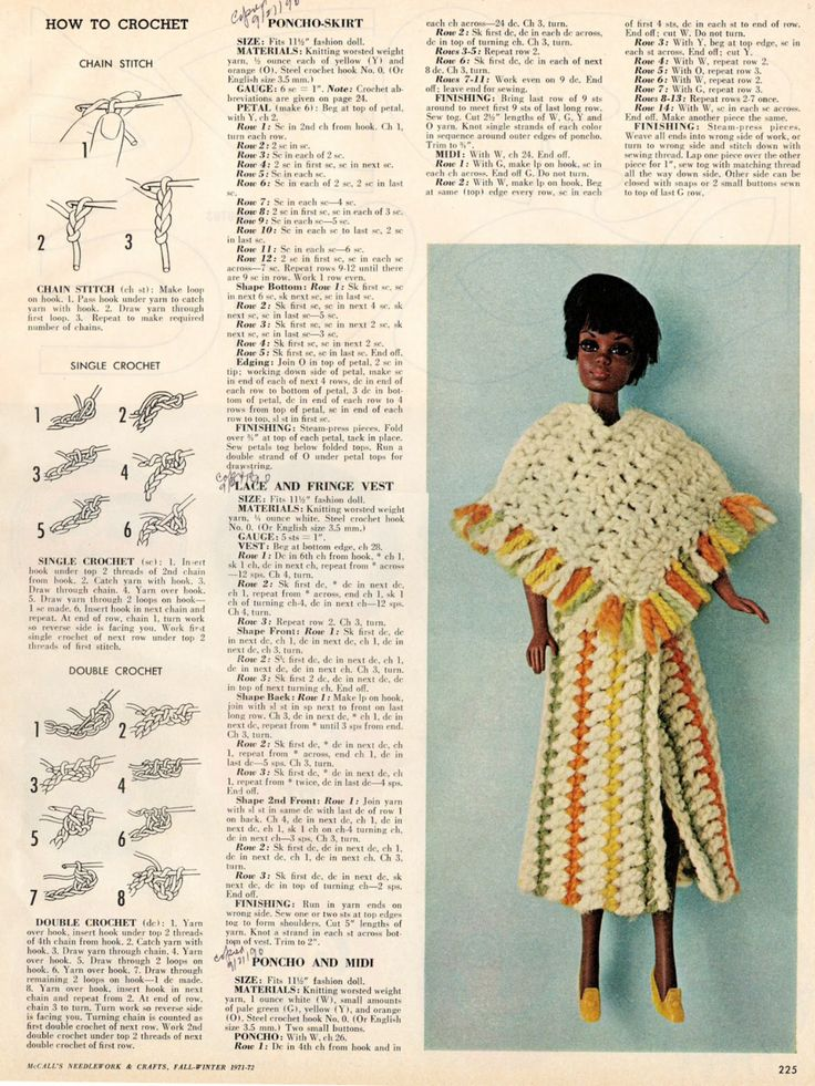 371 best BARBIE:Knitting patterns two images on Pinterest | Patrones ...