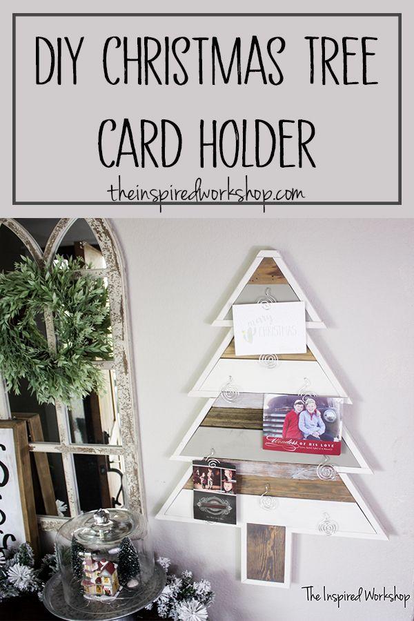 Diy Christmas Tree Card Holder Diy Christmas Decorations For Home Christmas Projects Diy Christmas Tree Card Holder