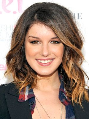 ombre hair perfectly done for short hair
