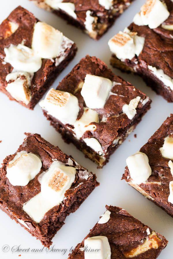 Extra Fudgy KitKat Brownies via @shineshka