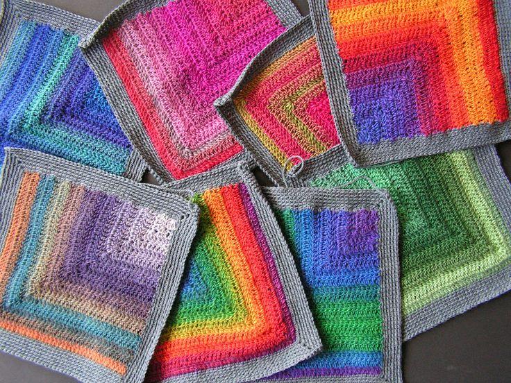 Crochet color: Crochet Ideas, Afghans Blankets, Pattern, Crochet Squares, Baby Blankets, C2C Crochet Blankets, Granny Squares, Crochet Color, Photo