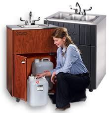 If you've decided to jump on the concession stand bandwagon, you'll need to outfit your stand with a portable hand washing sink. Aside from the fact that a portable sink is very useful,
