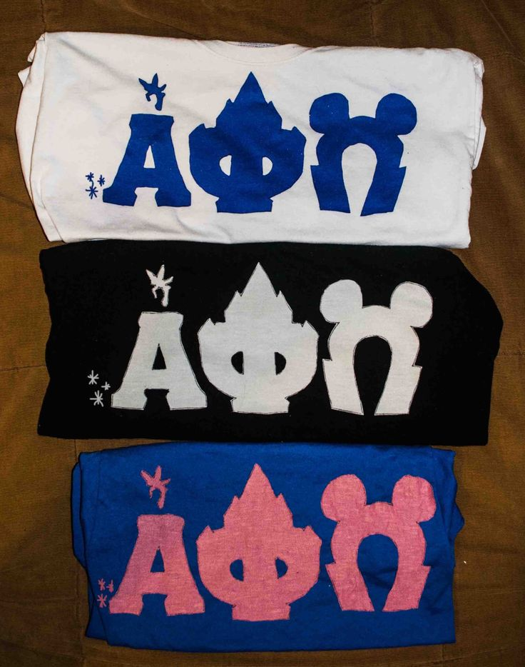 Disney themed Alpha Phi Omega letters! submitted by: knightowlette13