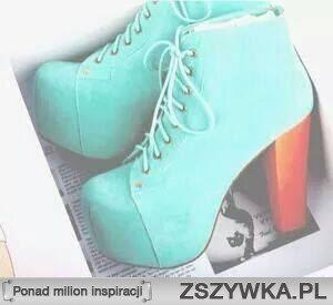 miętowe buty ^^
