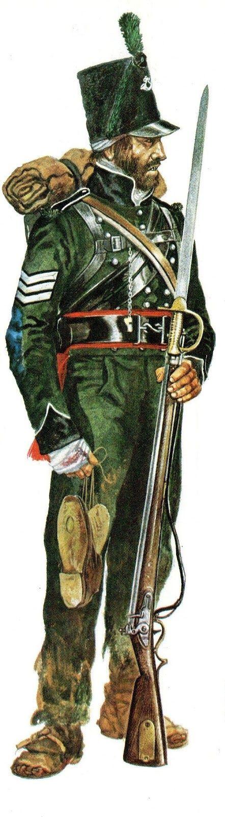"""Soldado británico de los """"95th Rifles"""" en campaña, España, Guerra Napoleónica."""
