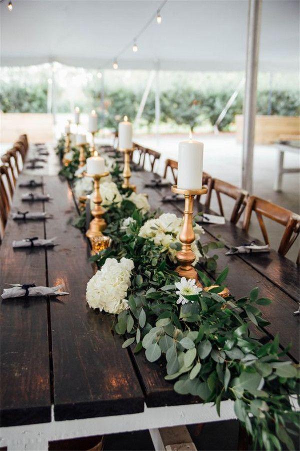 23 Wedding Trend Unique Floral Wedding Garland Table Runner Ideas Farm Table Wedding Garland Table Runner Table Runners Wedding