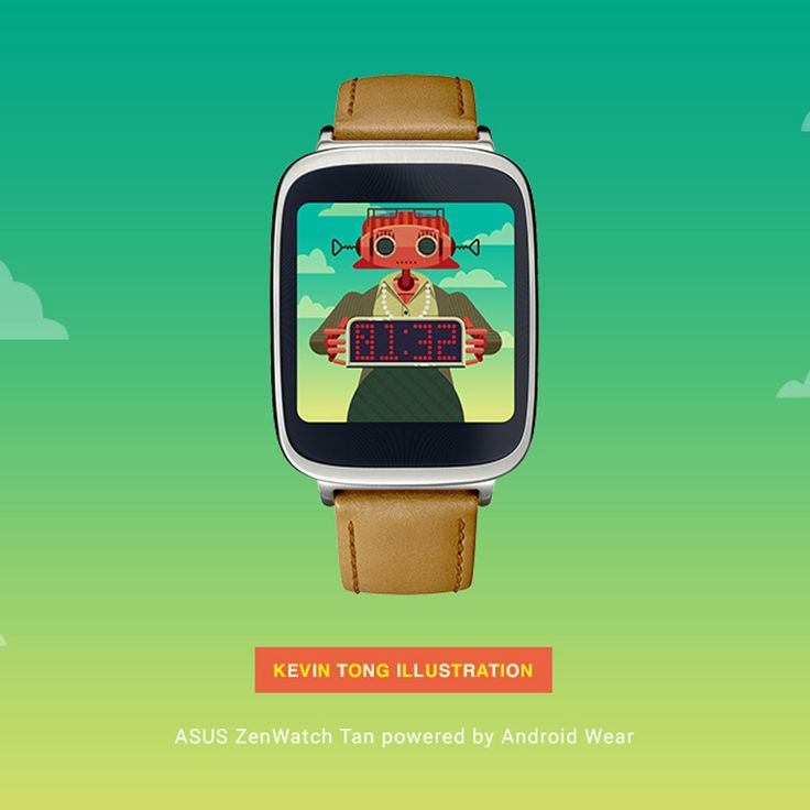 Update your ASUS ZenWatch with a free watch face by illustrator Kevin Tong.