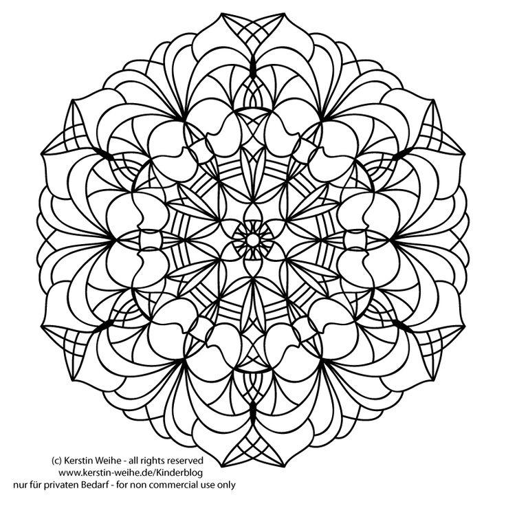 Mandala zum ausmalen kinder blog zeichnen vorlagen for Mosaik vorlagen zum ausdrucken