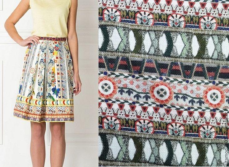 Купить Рогожка хлопок этника ткань Италия - комбинированный, альта мода, от кутюр, ткани