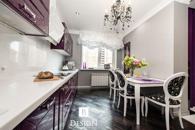 #интерьер #дизайн #бродская #кухня #декор #стол #стулья #фиолетовый #белый #design #interior #violet #kitchen #tablle #white #decor #home #homedecor