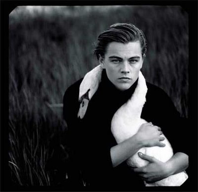 Leonardo DiCaprio ... I want a picture with a swan around my neck too!