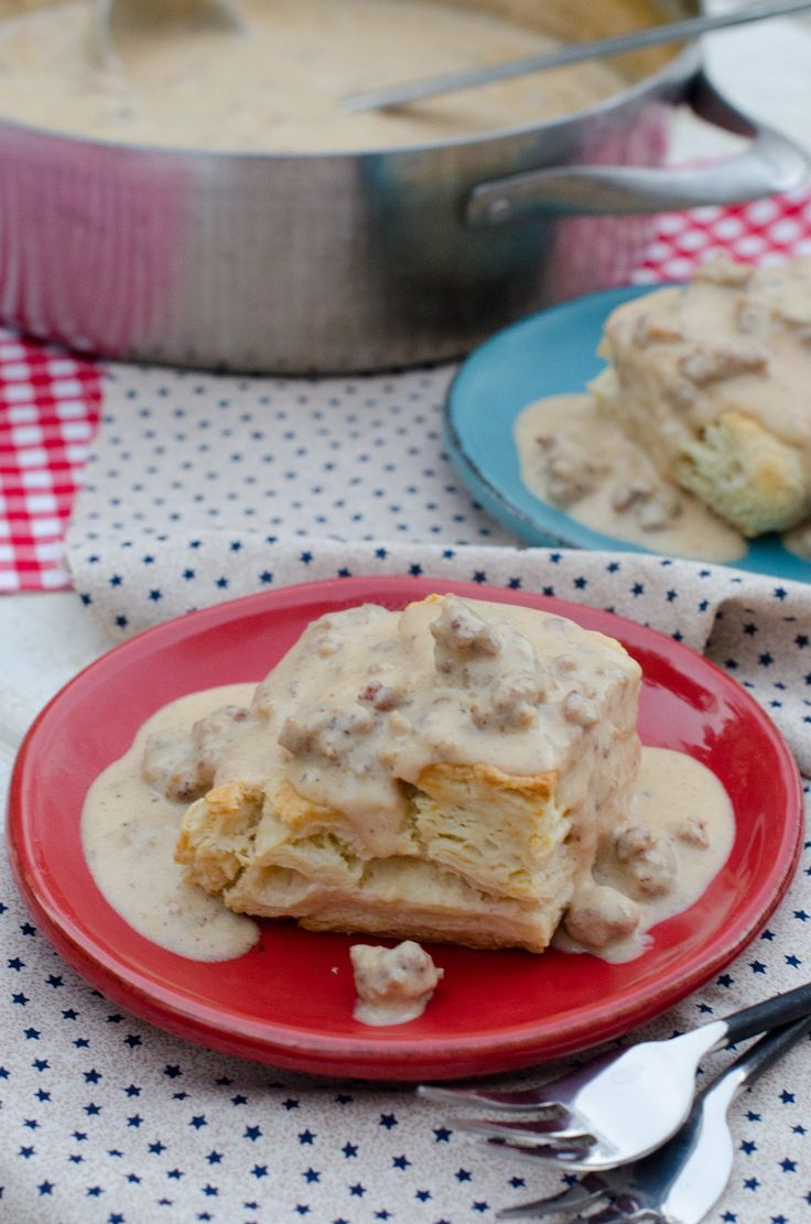 Biscuits and Sausage Gravy recipe from ChefSarahElizabeth.com