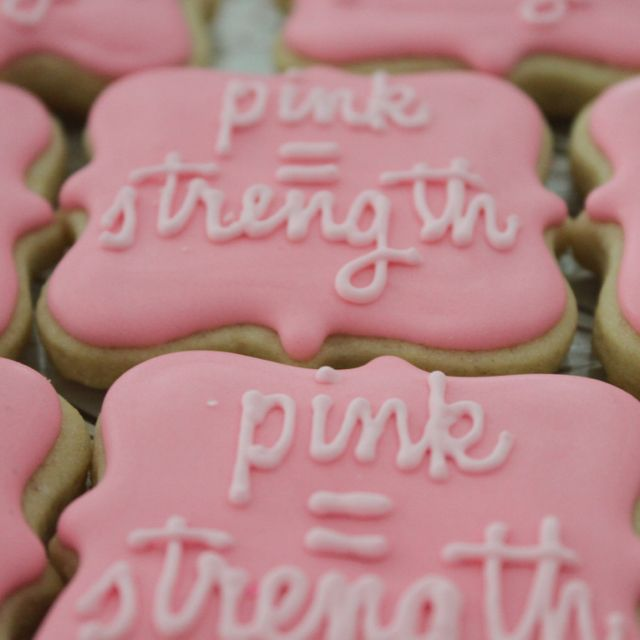 Breast Cancer Party Cookies... Could be gold for children cancer