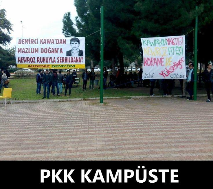 REZALET! Burası Antalya Akdeniz Üniversitesi. Anlaşılan Tayyip müzakerelerde sadece güneydoğuyu değil bütün üniversiteleri de PKK'ya vermiş.  https://www.facebook.com/gencturklerizbiz  #akdenizuniversitesi #tayyip #tayyiperdogan #gundem #haber #yeni #siyaset #politika #pkk #kampus