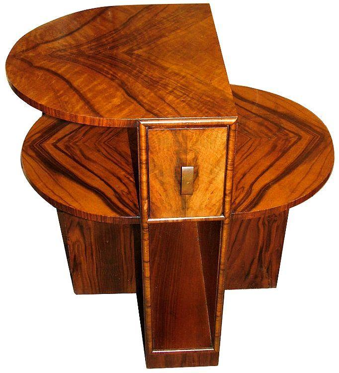 art moderne furniture. art deco sectional walnut table moderne furniture