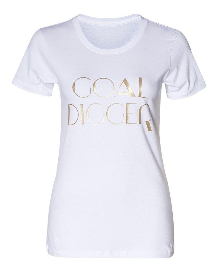 Allie Sevdalis x eLUXE | Goal Digger Tee in white
