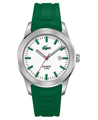 Lacoste Watch, Men's Green Rubber Strap 2010412 - All Watches - Jewelry & Watches - Macy's