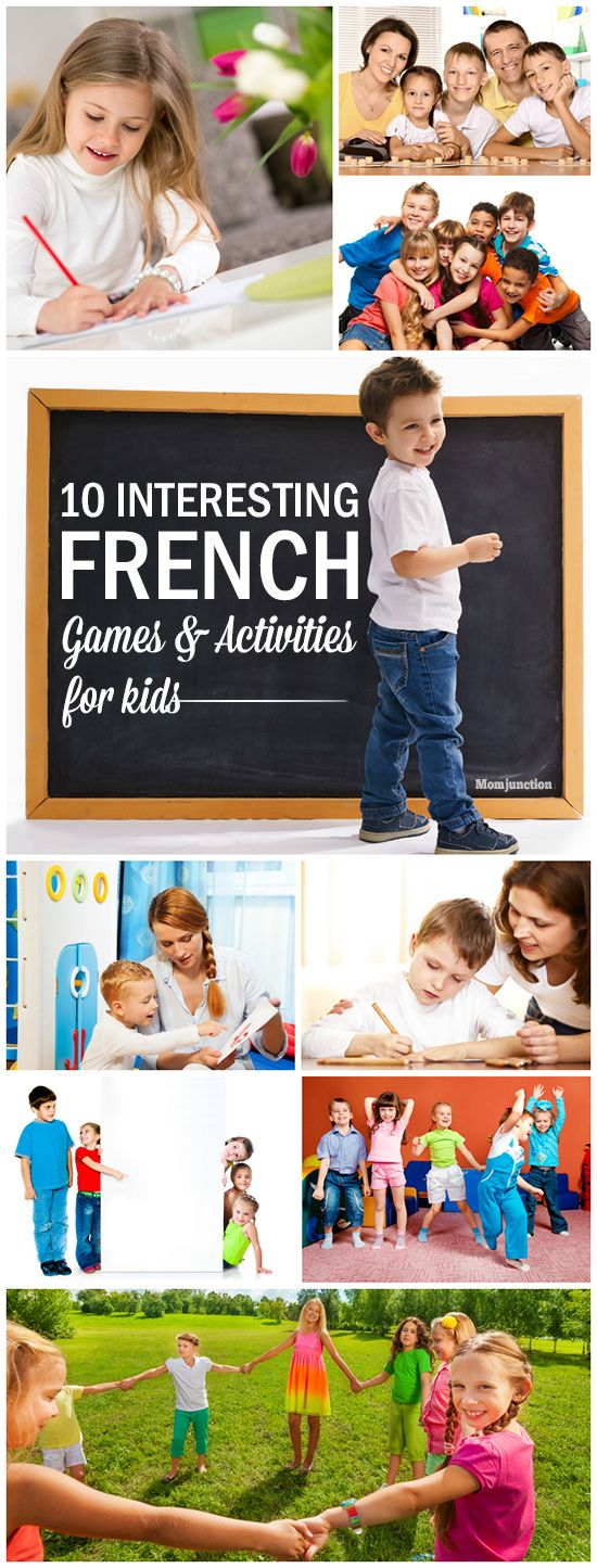 10 interesting French games for kids