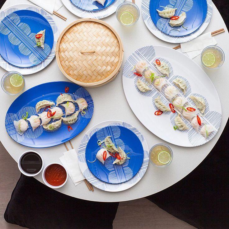 Looks so good- yum Cha chic #blue #tabletop #home decor